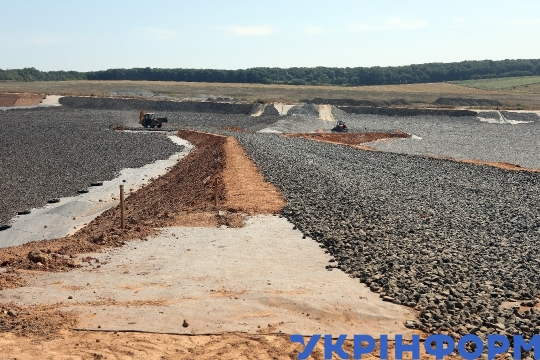 Construction of modern landfill in Kharkiv Region