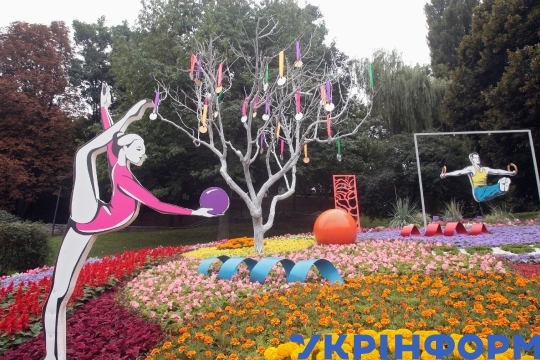 Ukrainian sports legends honoured with flower show in Kyiv