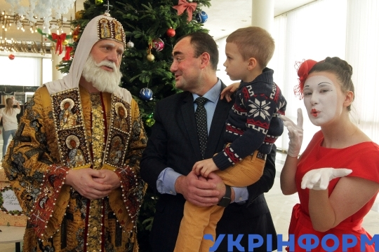 Saint Nicholas' Day celebration in Dnipro