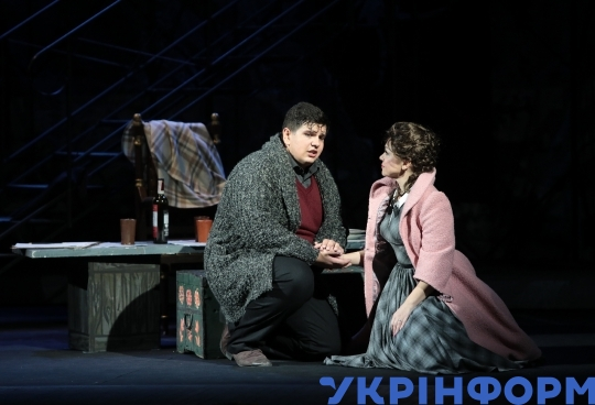 Dress rehearsal of La bohème at National Opera House in Kyiv