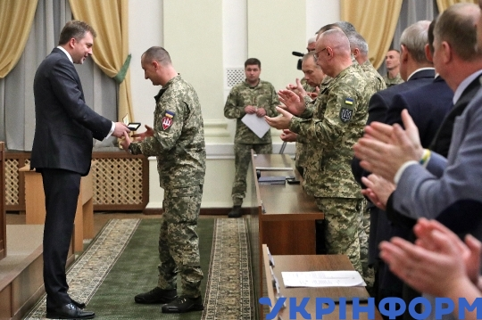 Awards ceremony on 28th anniversary of Ukrainian Armed Forces