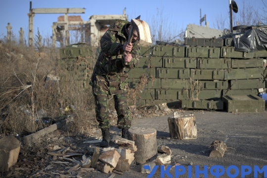 Everyday life of Ukrainian soldiers on front line