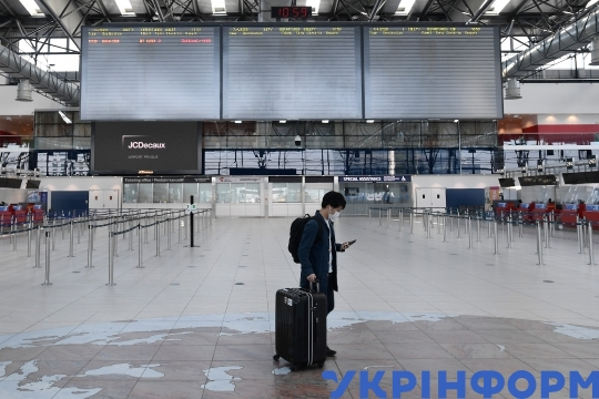 Vaclav Havel Airport Prague during lockdown