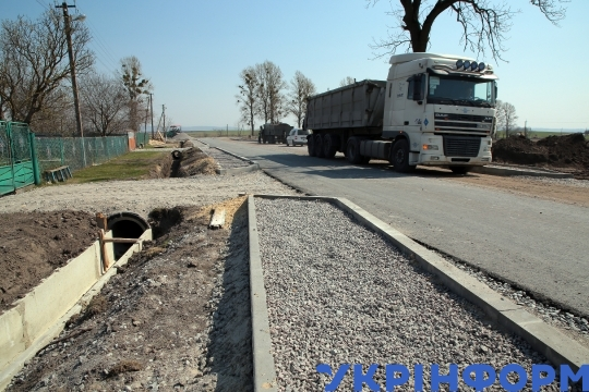 Road repairs in Lviv Region