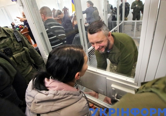Hearing of Andrii Antonenko's case at Kyiv Court of Appeal
