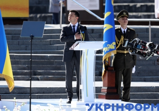 Independence Day celebration in central Kyiv