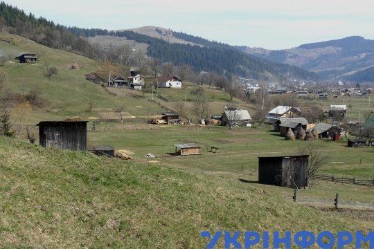 Highland villages in western Ukraine