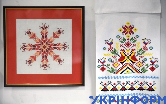 Ukrainian embroidery on display at Neopalyma Kupyna exhibition in Vinnytsia