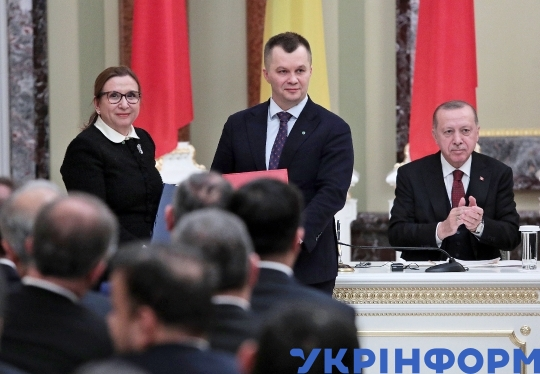 Meeting between Ukrainian President Volodymyr Zelenskyy and Turkish President Recep Tayyip Erdogan in Kyiv