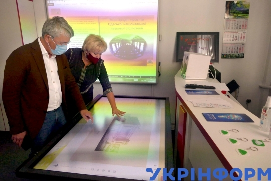 Culture minister Oleksandr Tkachenko visits Odesa National Scientific Library