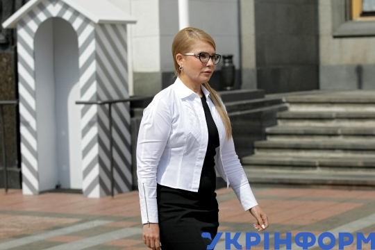 News conference of Batkivshchyna leader Yulia Tymoshenko