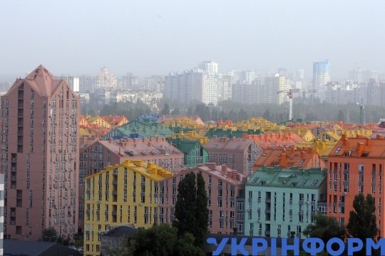 Smog in Kyiv on October 1, 2020