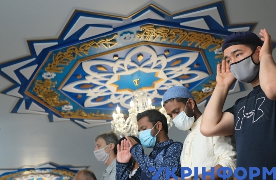 Eid al-Adha prayer in Sievierodonetsk