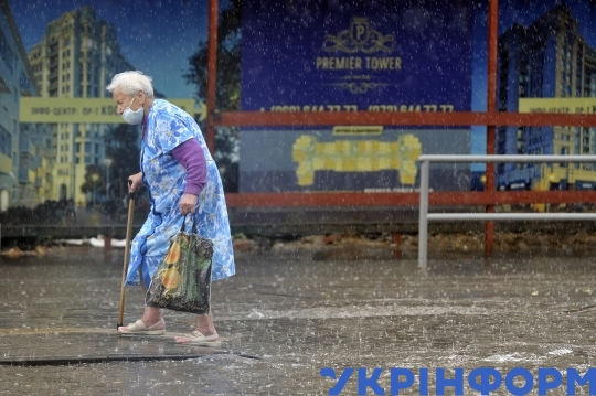 Summer shower in Vinnytsia