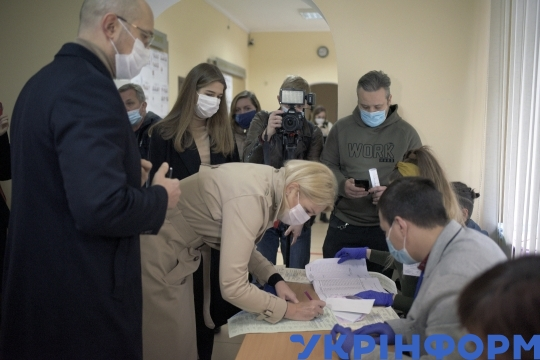 PM Denys Shmyhal votes in Lviv during 2020 local elections