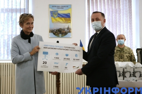 German Ambassador hands over equipment needed to fight COVID-19 in Kyiv